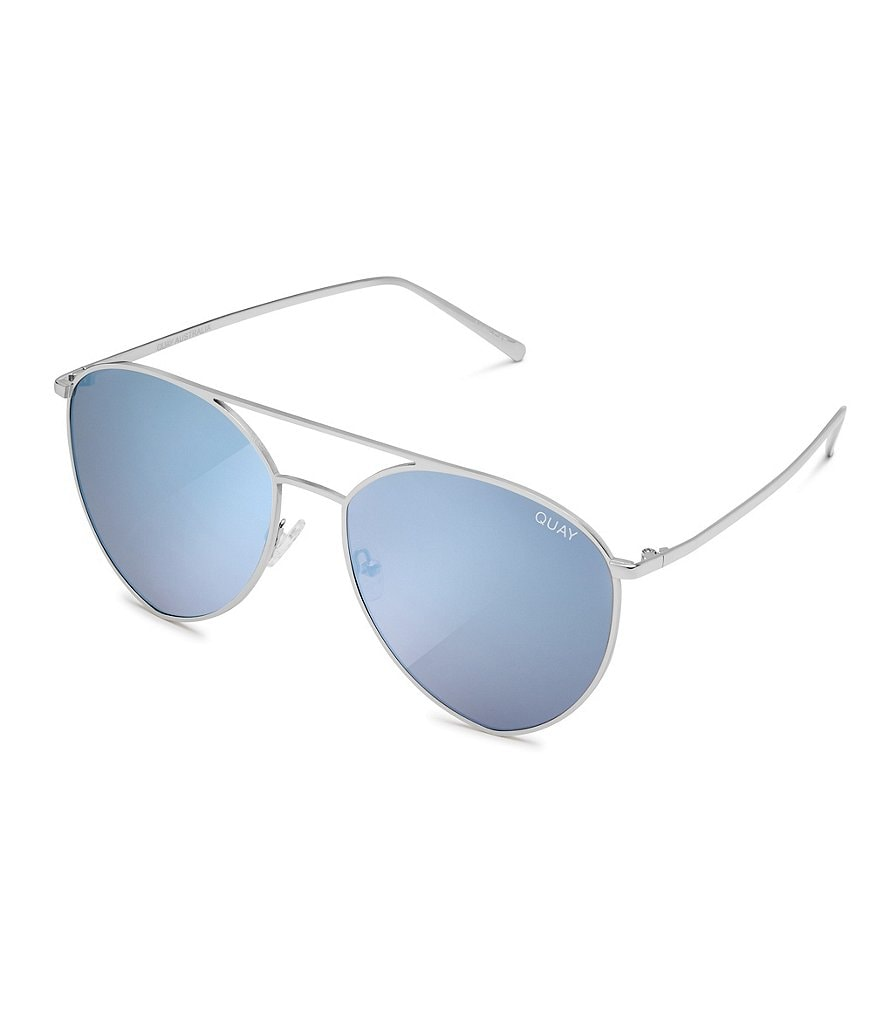 Quay Australia Indio Mirrored Aviator Sunglasses
