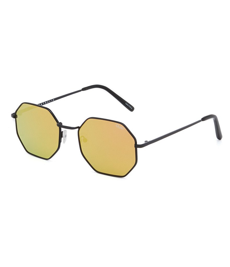 Quay Australia On A Dime Mirrored Octagonal Sunglasses