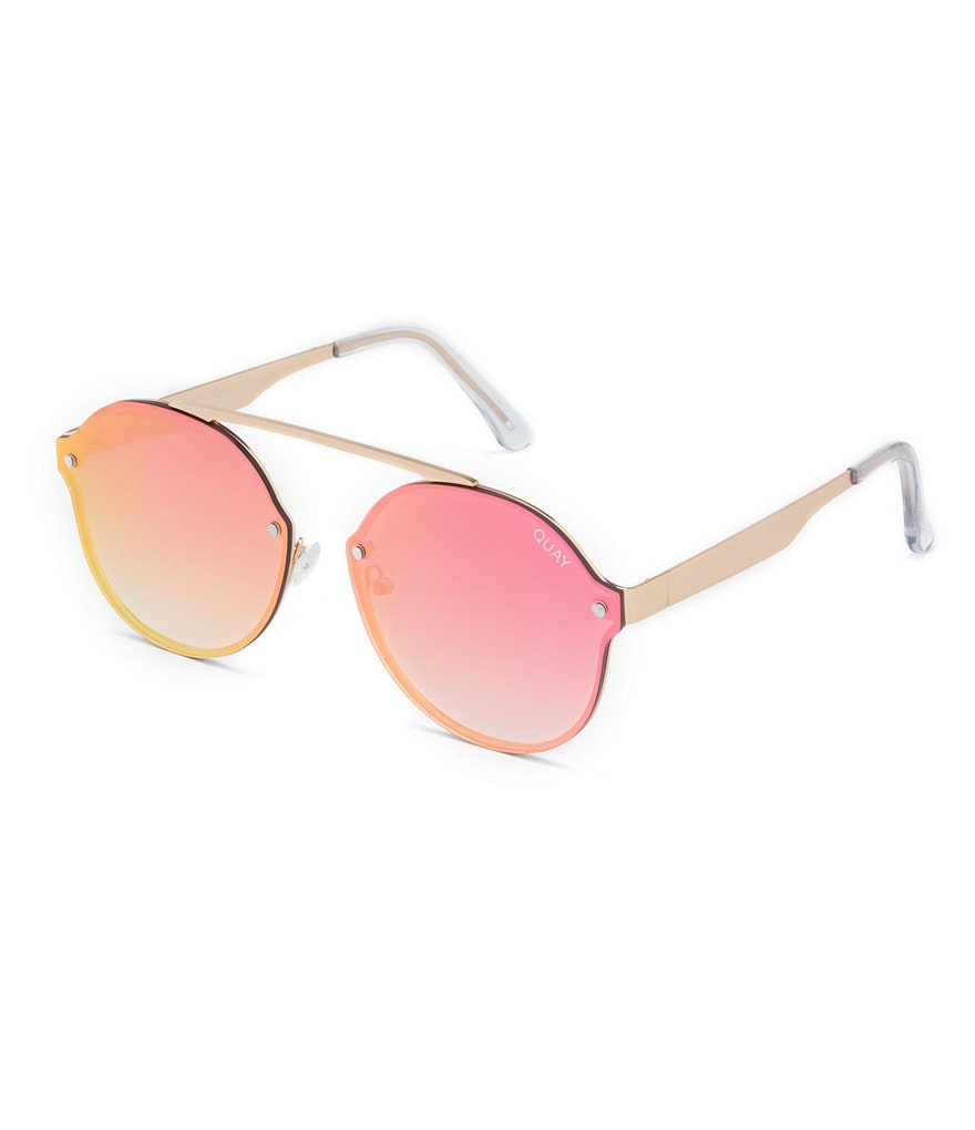Quay Camden Heights Round Rimless Sunglasses