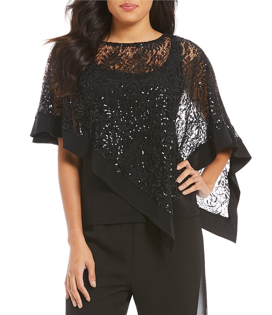 R & M Richards Sequin Poncho