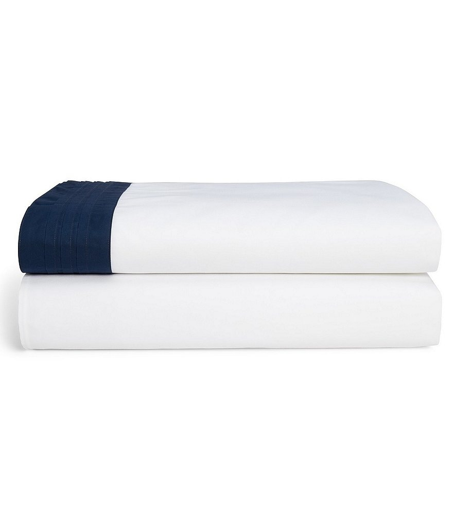 Ralph Lauren Blanc Bleu Collection Wilford Sateen Sheets