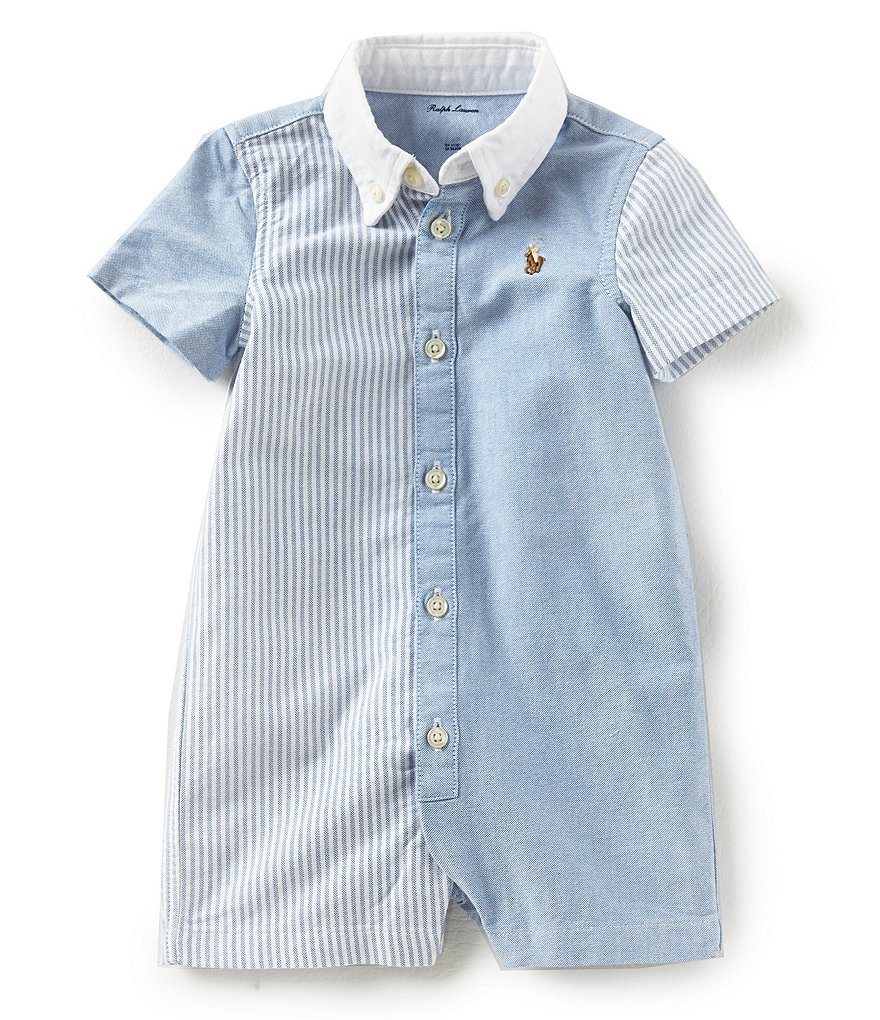 Ralph Lauren Childrenswear Baby Boys 3-12 Months Mixed-Media Oxford Shortall
