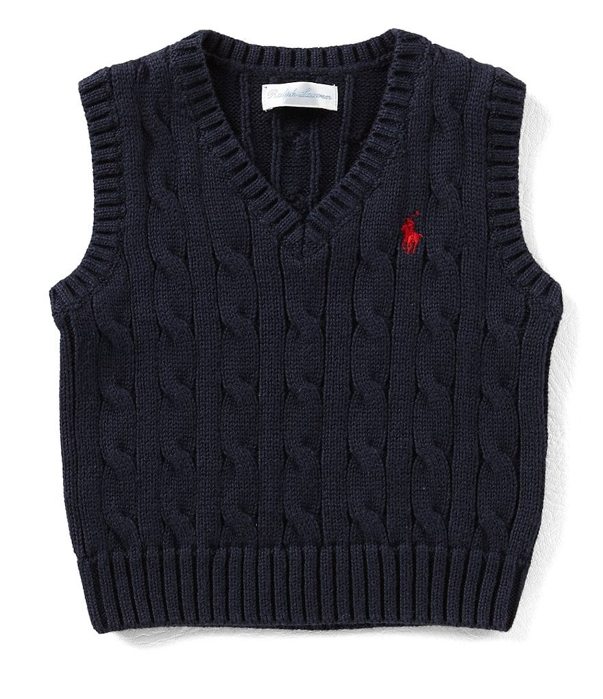 Ralph Lauren Childrenswear Baby Boys 3-24 Months Cable-Knit ...