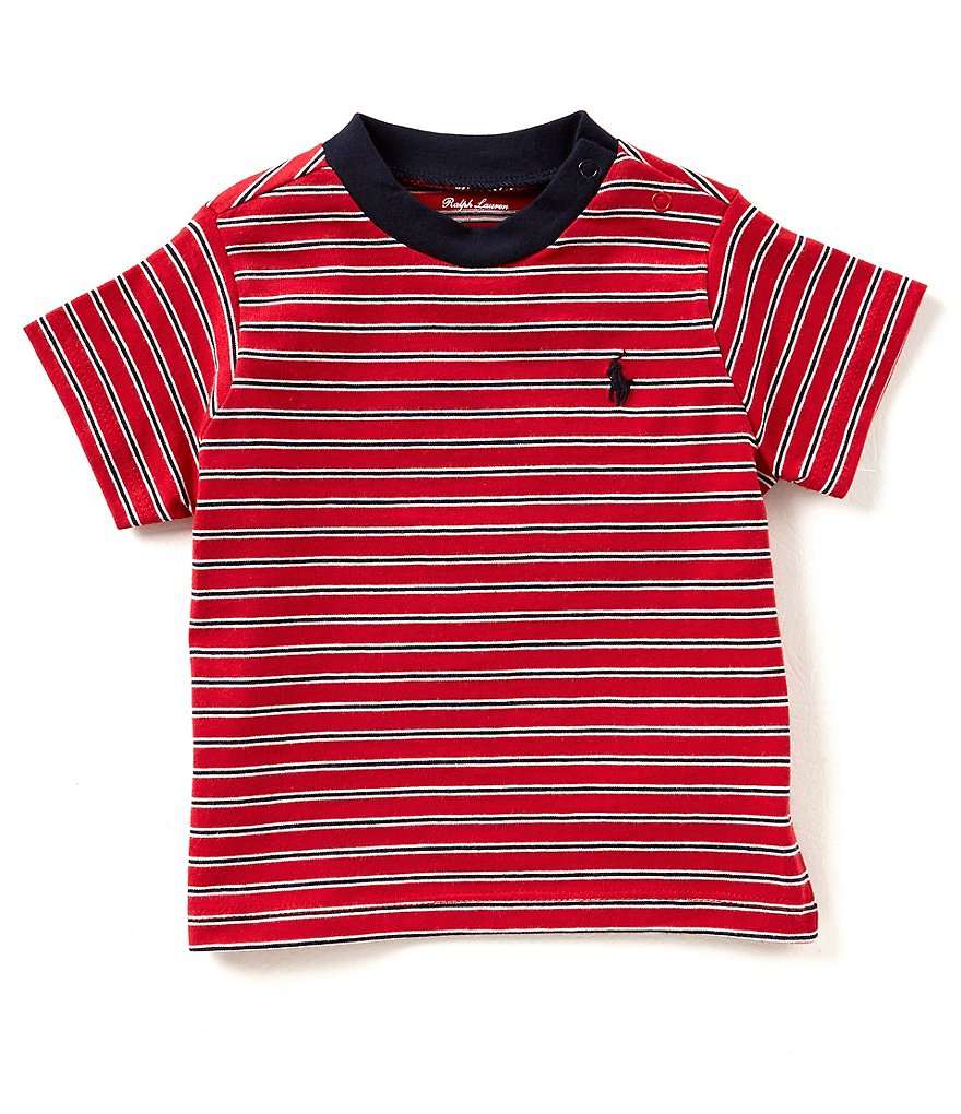 Ralph Lauren Childrenswear Baby Boys 3-24 Months Short-Sleeve Striped Tee