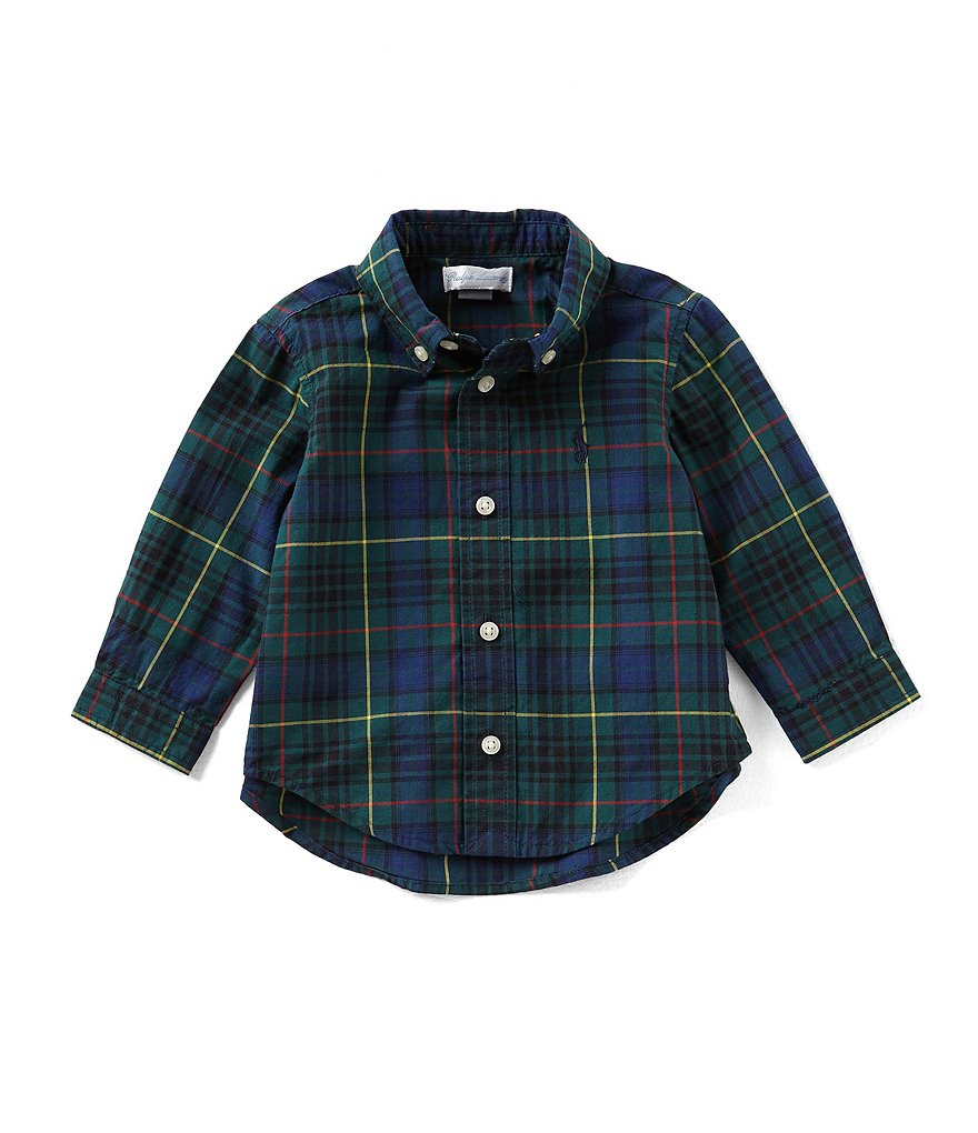 Ralph Lauren Childrenswear Baby Boys 6-24 Months Plaid Long-Sleeve Poplin Shirt