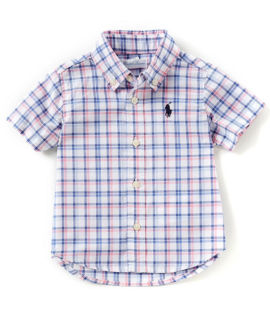 Ralph Lauren Childrenswear Baby Boys 6-24 Months Short-Sleeve Plaid Shirt