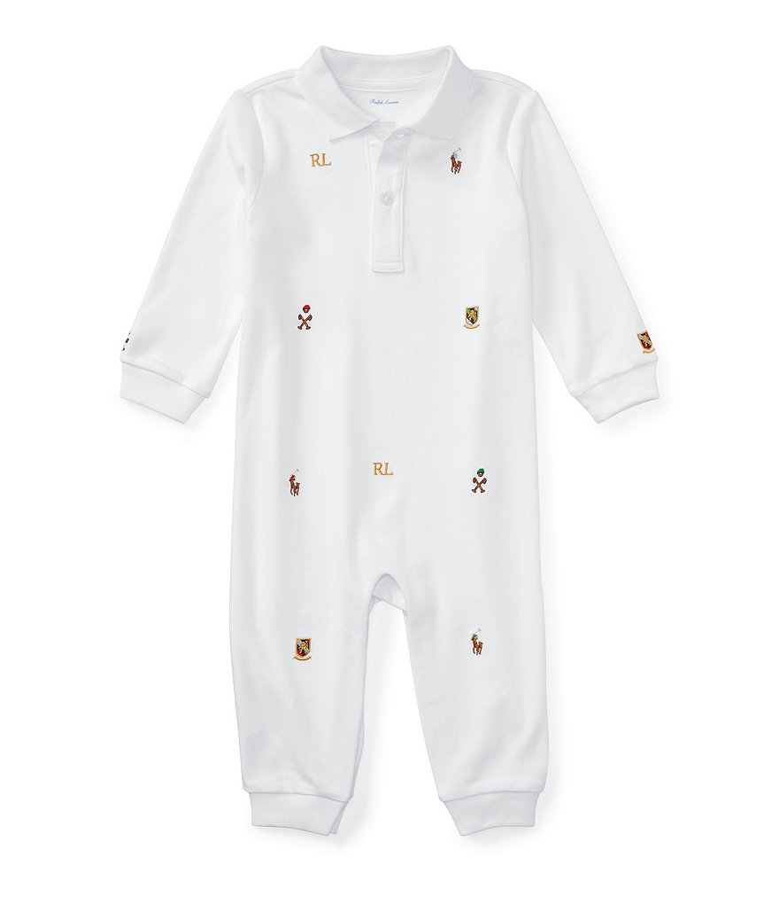 Ralph Lauren Childrenswear Baby Boys Newborn-12 Months Embroidered Schiffli Coverall