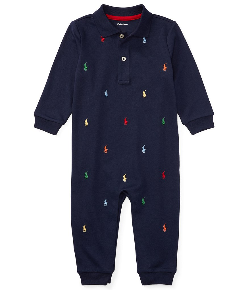 Ralph Lauren Childrenswear Baby Boys Newborn-12 Months Schiffli-Embroidered Coverall