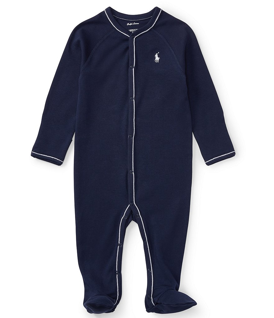 Ralph Lauren Childrenswear Baby Boys Newborn-9 Months Solid Footed Coverall