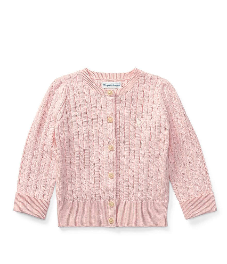 Ralph Lauren Childrenswear Baby Girls 3-24 Months Mini Cable-Knit Cardigan
