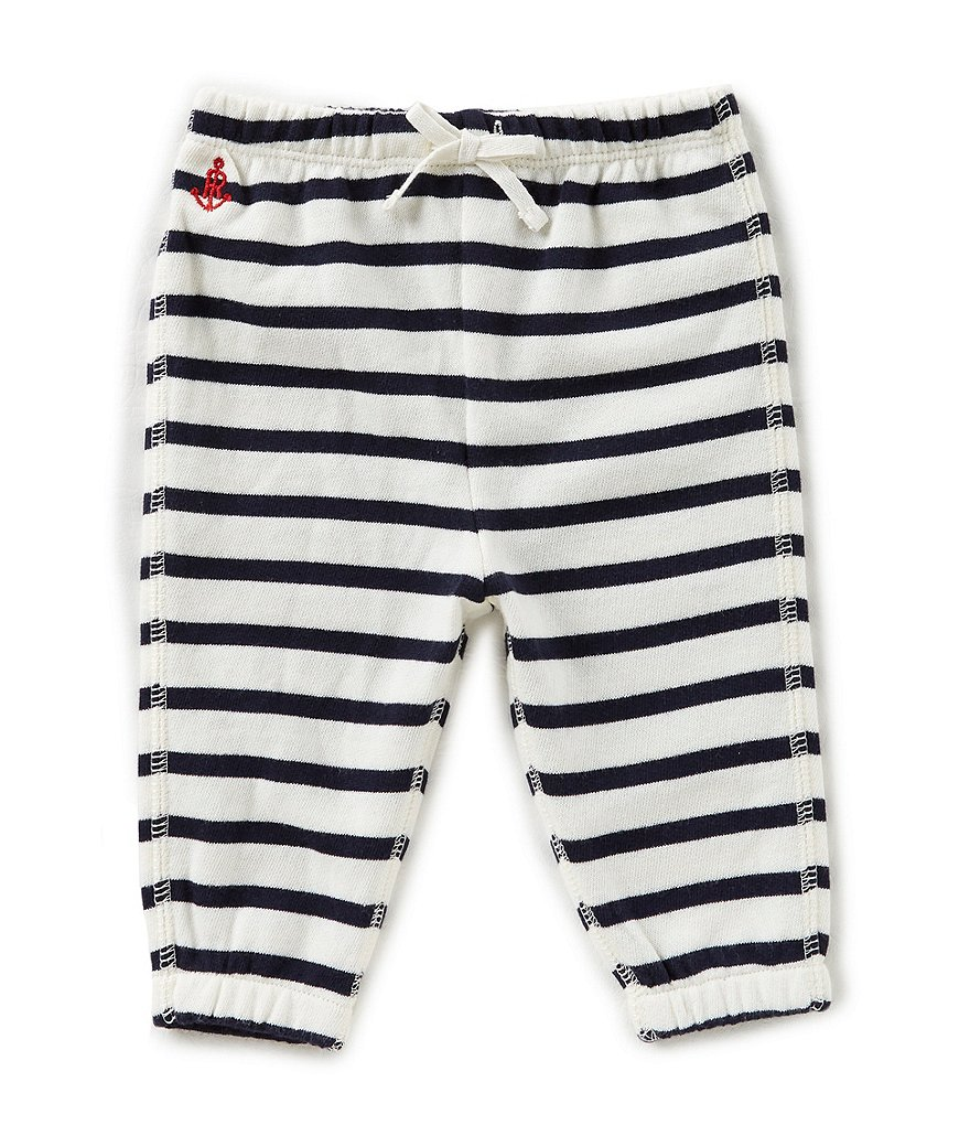 Ralph Lauren Childrenswear Baby Girls 3-24 Months Nautical-Striped Terry Jogger Pants