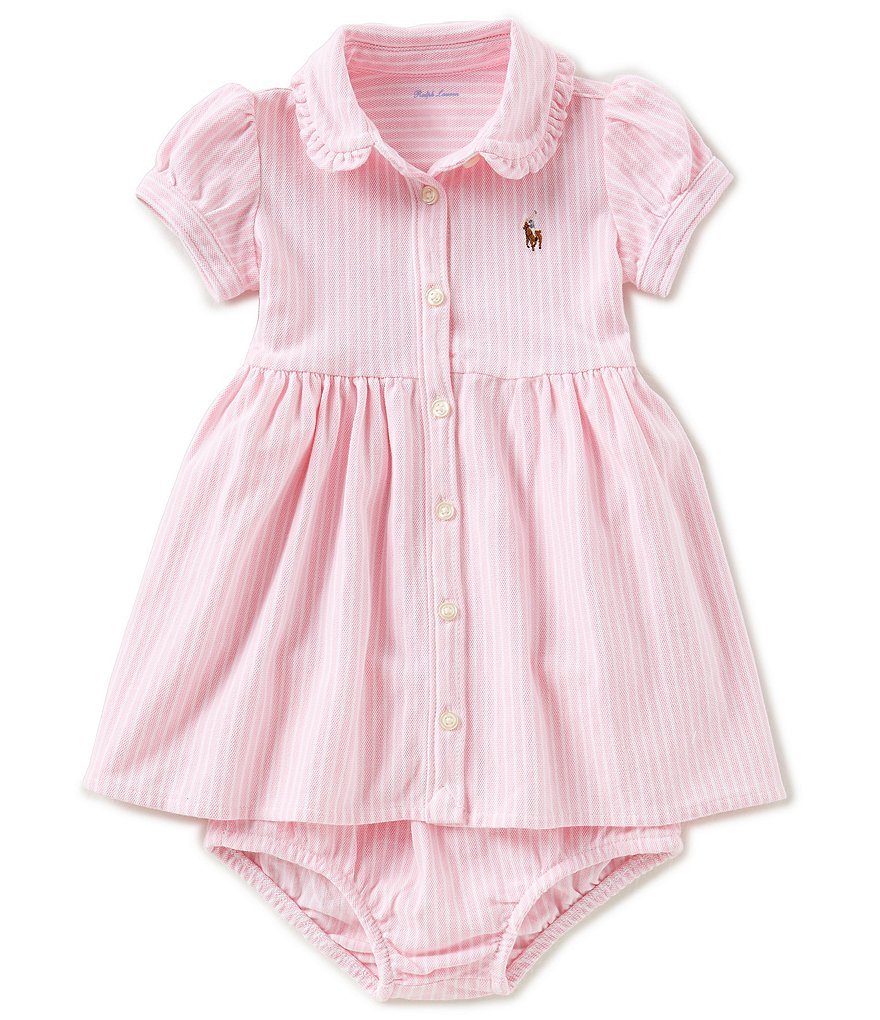Ralph Lauren Childrenswear Baby Girls 3-24 Months Striped Oxford Mesh Dress