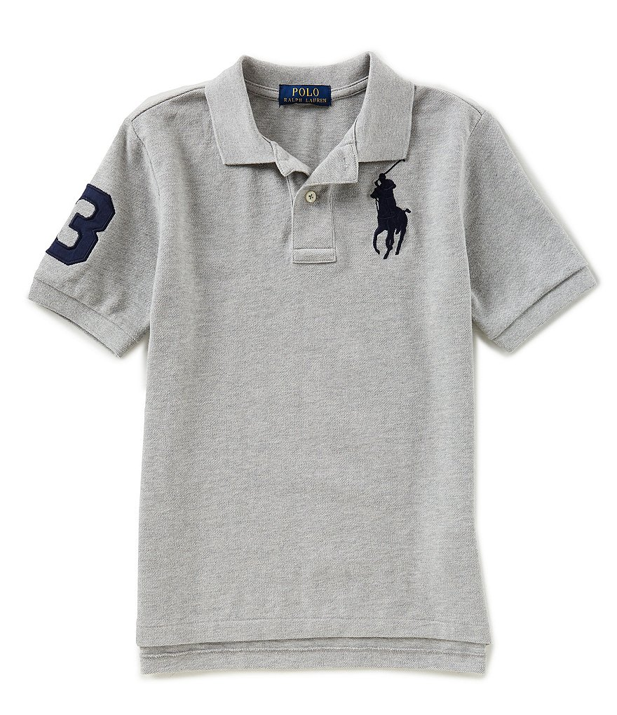 Ralph Lauren Childrenswear Big Boys 8-20 Basic Mesh Big Pony Player Polo Shirt