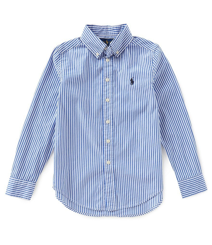 Ralph Lauren Childrenswear Big Boys 8-20 Button-Down Long-Sleeve Poplin Shirt
