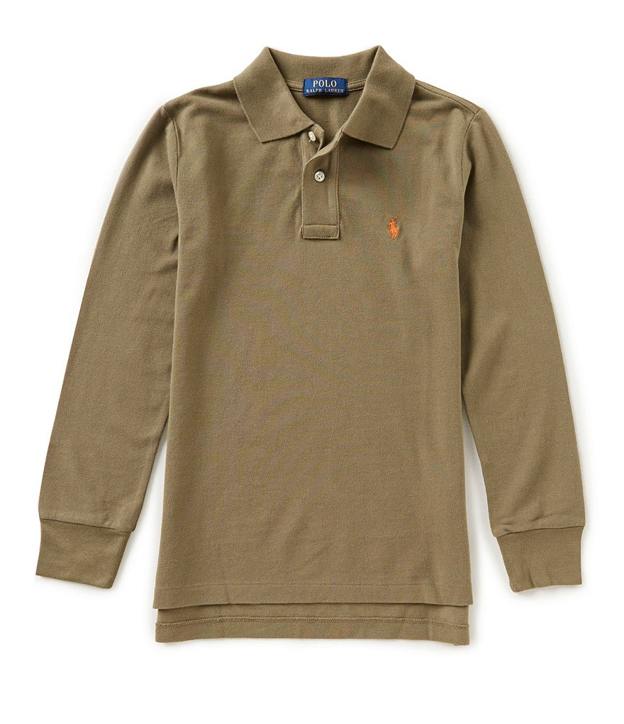 Ralph Lauren Childrenswear Big Boys 8-20 Long-Sleeve Mesh Polo Shirt