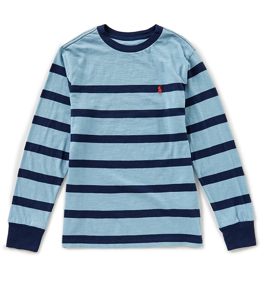 Ralph Lauren Childrenswear Big Boys 8-20 Long-Sleeve Striped Jersey Tee