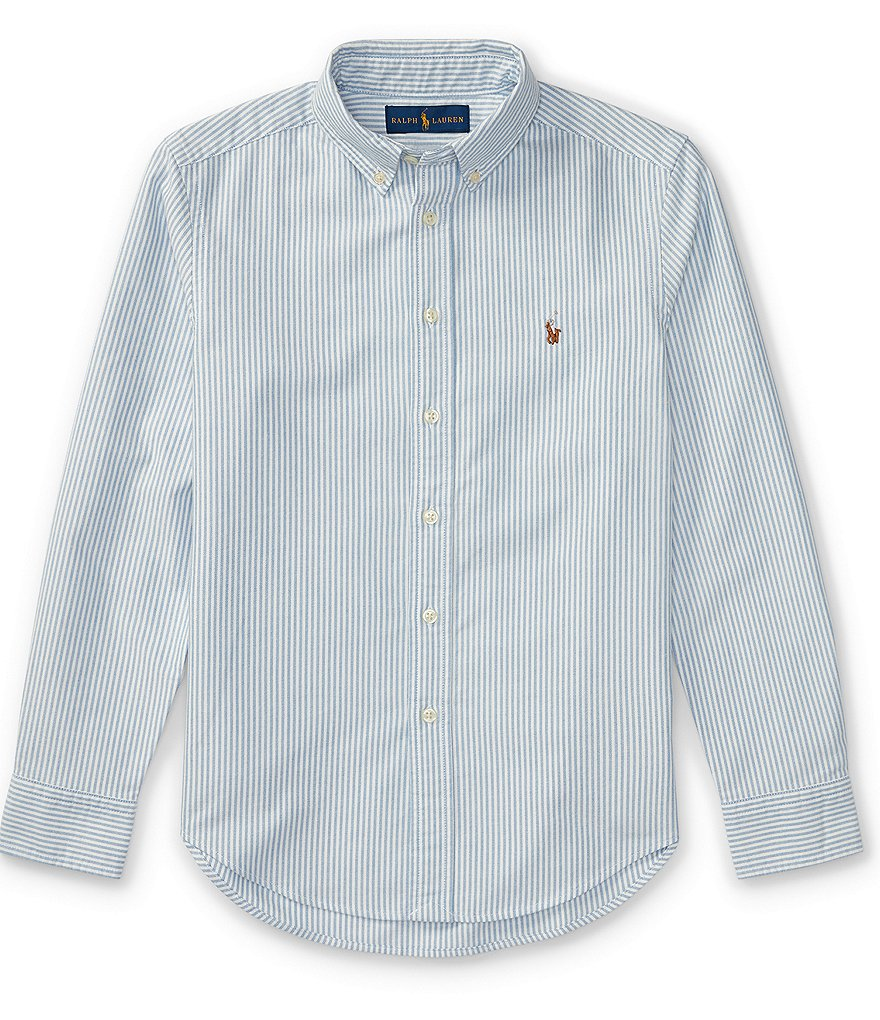 Ralph Lauren Childrenswear Big Boys 8-20 Long-Sleeve Striped Oxford Shirt