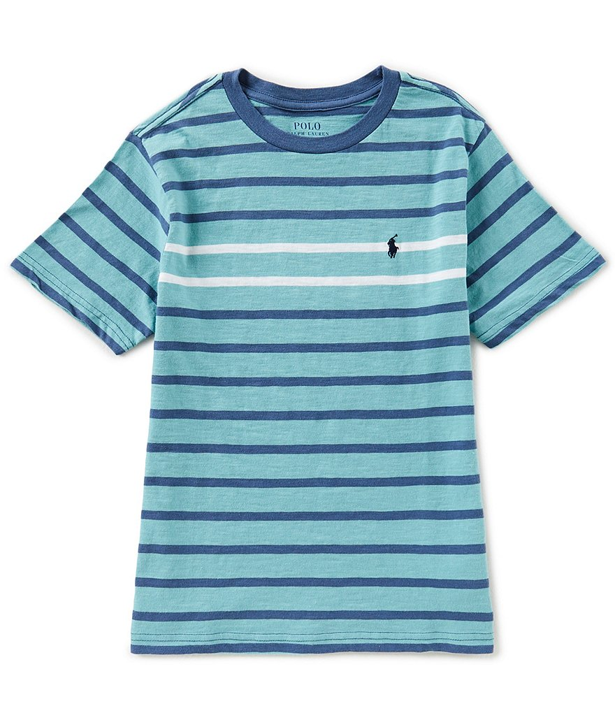 Ralph Lauren Childrenswear Big Boys 8-20 Short-Sleeve Striped Jersey Tee