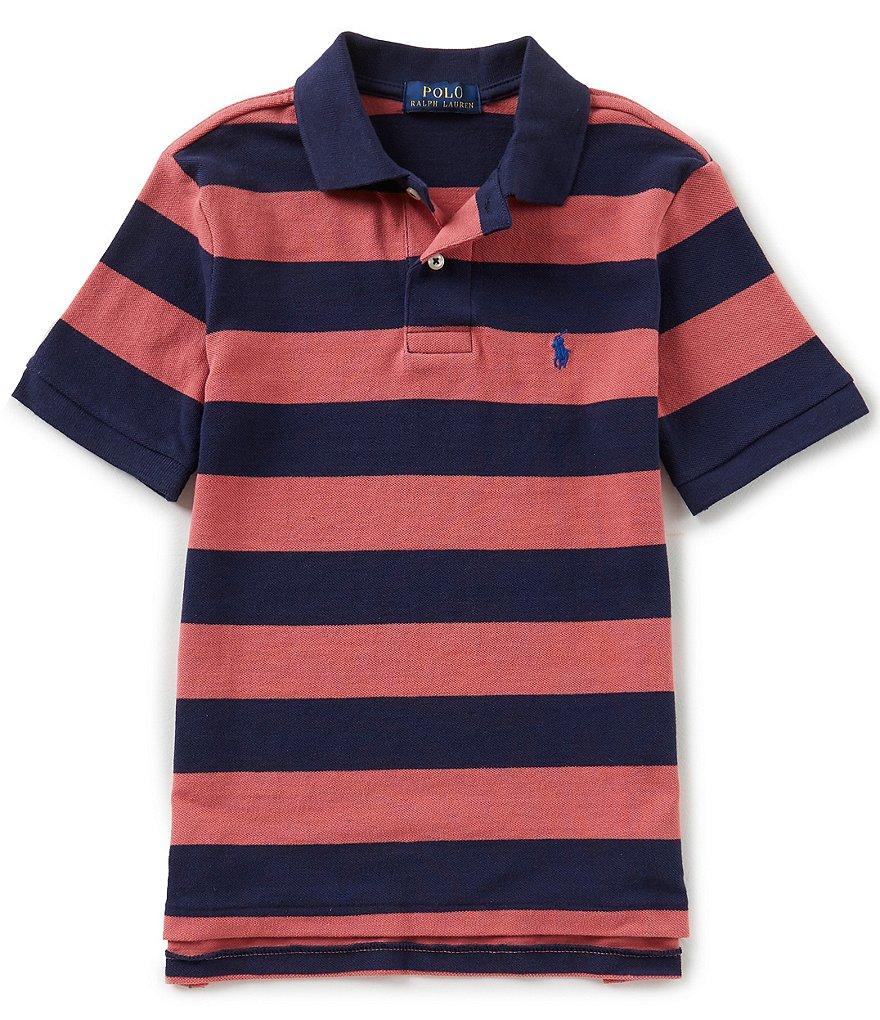 Ralph Lauren Childrenswear Big Boys 8-20 Short-Sleeve Striped Mesh Polo  Shirt