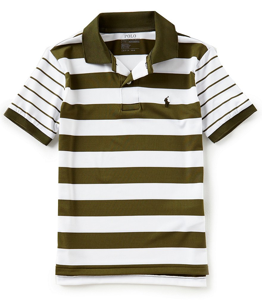 Ralph Lauren Childrenswear Big Boys 8-20 Short-Sleeve Striped Moisture-Wicking Polo Shirt