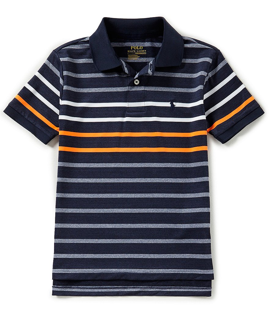 Ralph Lauren Childrenswear Big Boys 8-20 Striped Performance Stretch Lisle Polo Shirt