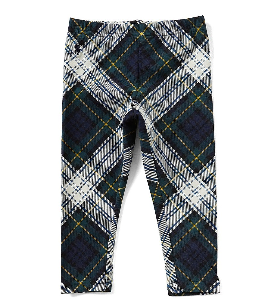 Ralph Lauren Childrenswear Big Girls 7-16 Plaid Stretch Jersey Leggings