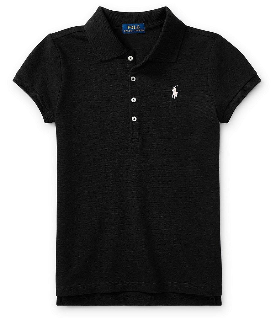 Ralph Lauren Childrenswear Big Girls 7 16 Short Sleeve Mesh Polo