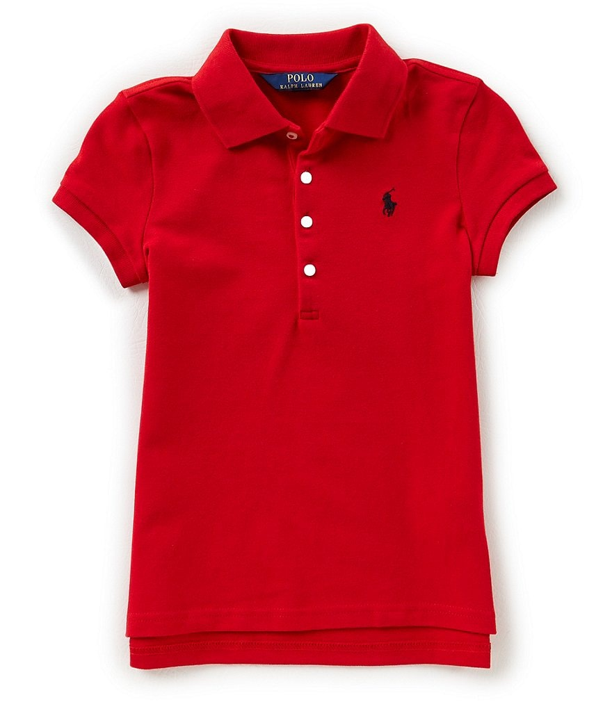 Ralph Lauren Childrenswear Big Girls 7-16 Short-Sleeve Polo Shirt