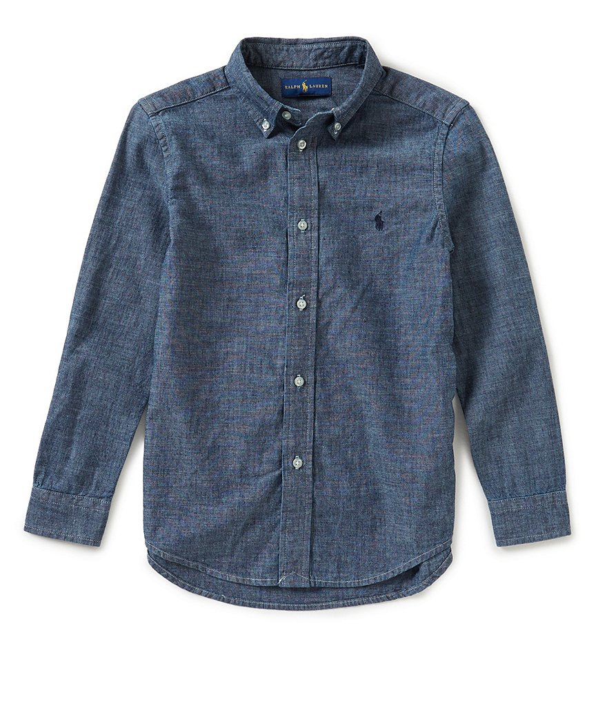 Ralph lauren childrenswear little boys 2t 7 button down for Chambray 7 s