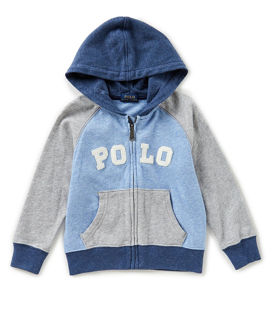 Ralph Lauren Childrenswear Little Boys 2T-7 Color Block Zip-Front Hoodie