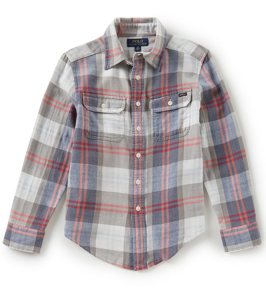 Ralph Lauren Childrenswear Little Boys 2T-7 Long-Sleeve Plaid Twill Workshirt