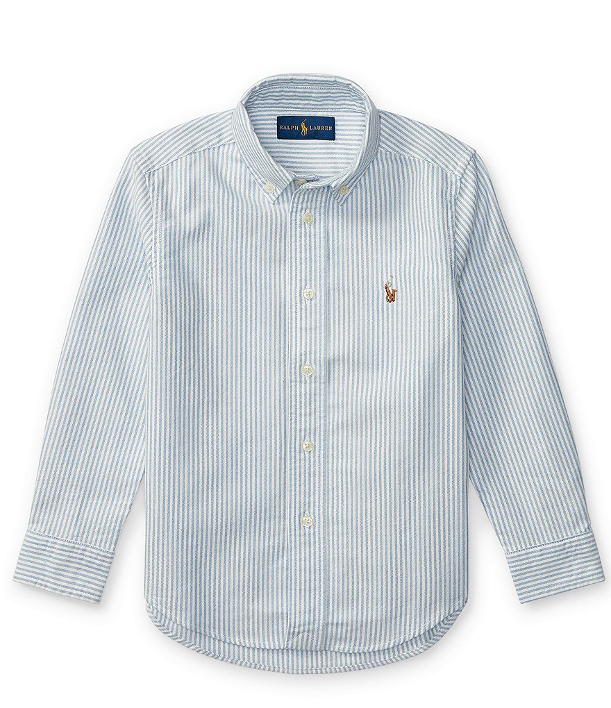 Ralph Lauren Childrenswear Little Boys 2T-7 Striped Long-Sleeve Oxford Shirt