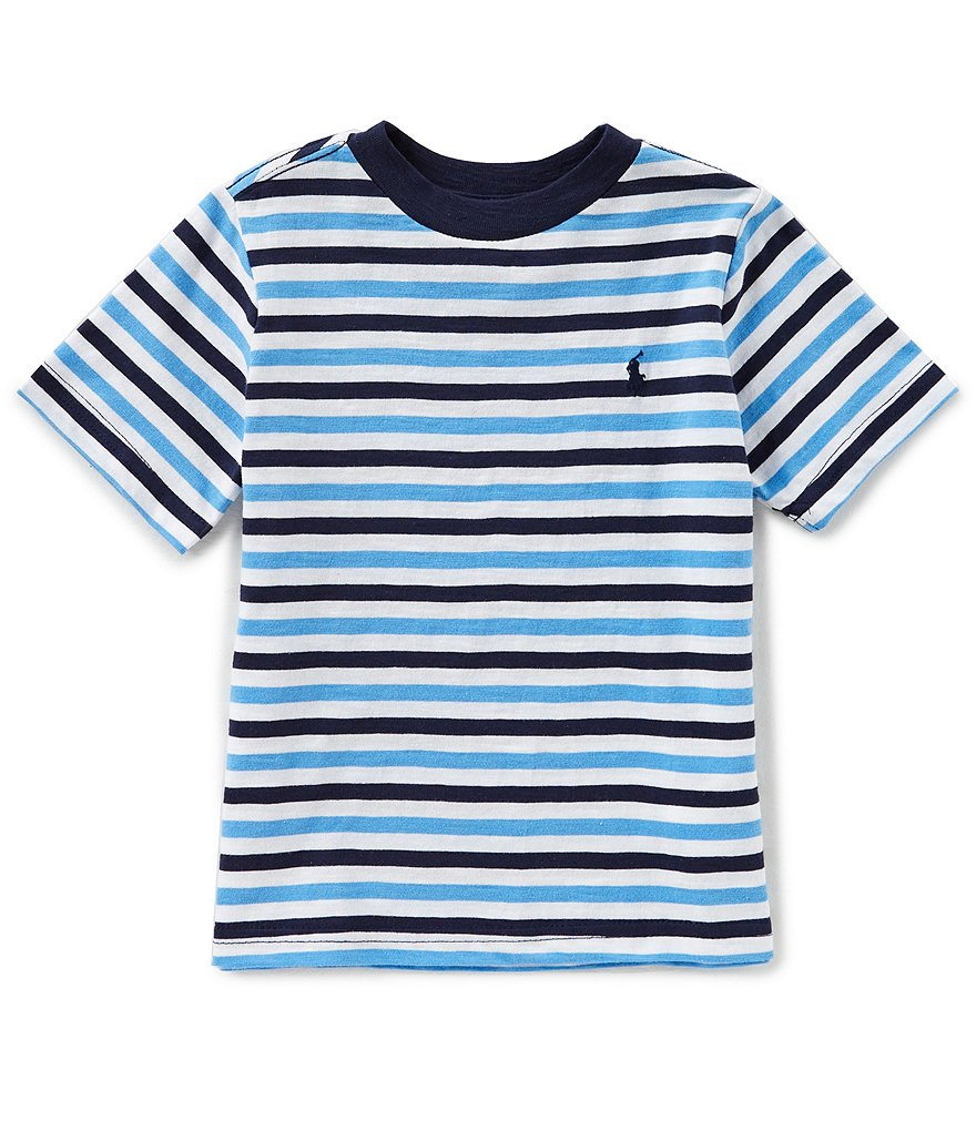 Ralph Lauren Childrenswear Little Boys 2T-7 Striped Short-Sleeve Tee