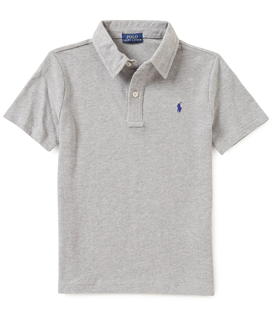 Ralph Lauren Childrenswear Little Boys 5-7 Featherweight Cotton Mesh Short-Sleeve Polo Shirt