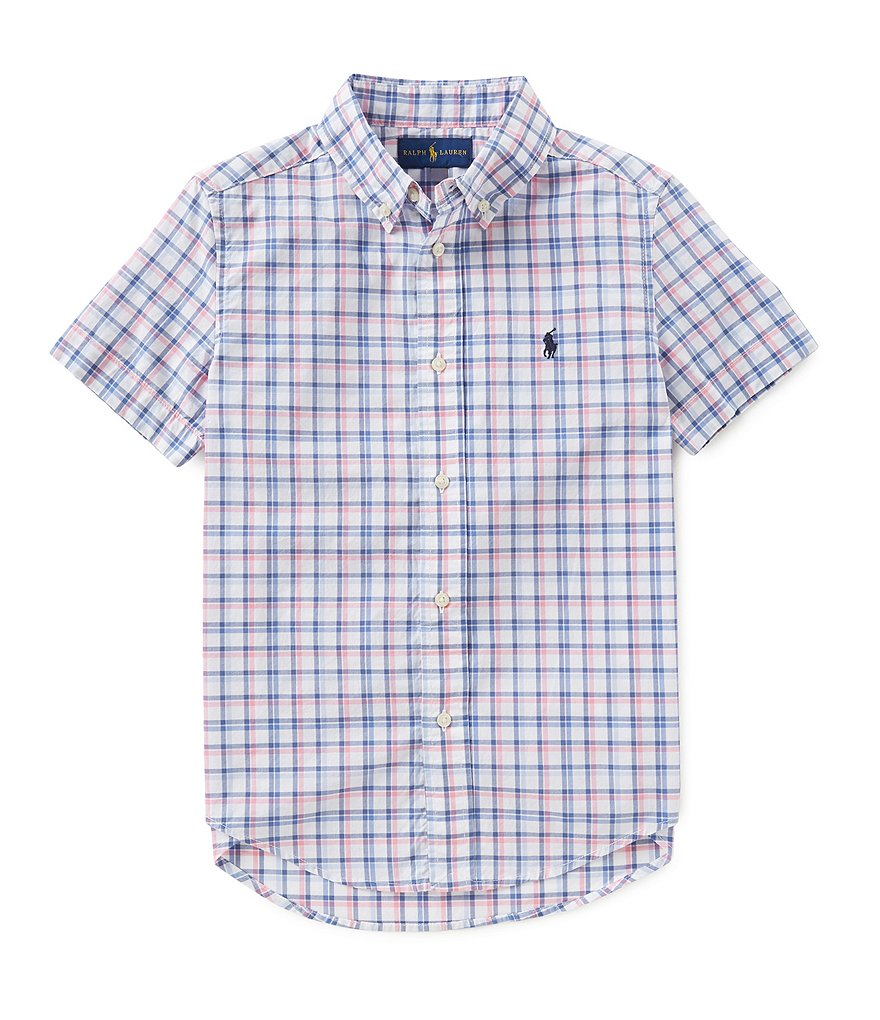Ralph Lauren Childrenswear Little Boys 5-7 Short-Sleeve Plaid Woven Shirt