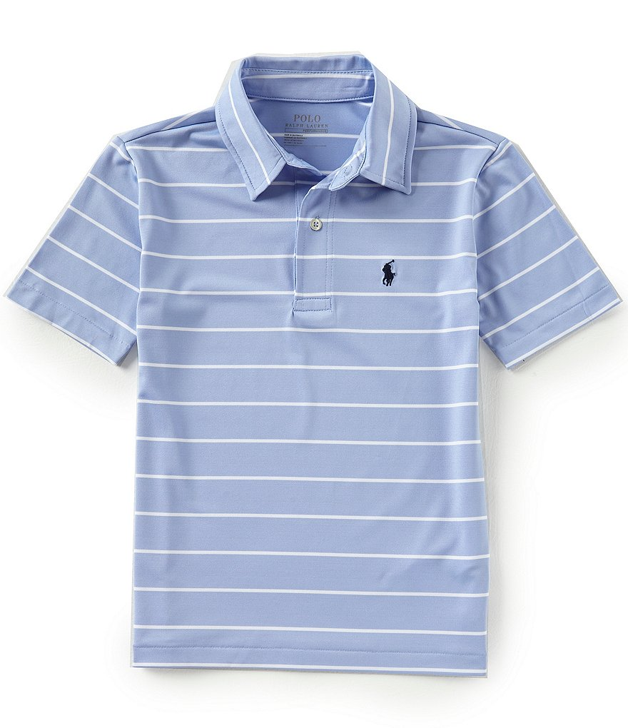 Ralph Lauren Childrenswear Little Boys 5-7 Short-Sleeve Striped Lisle Polo Shirt