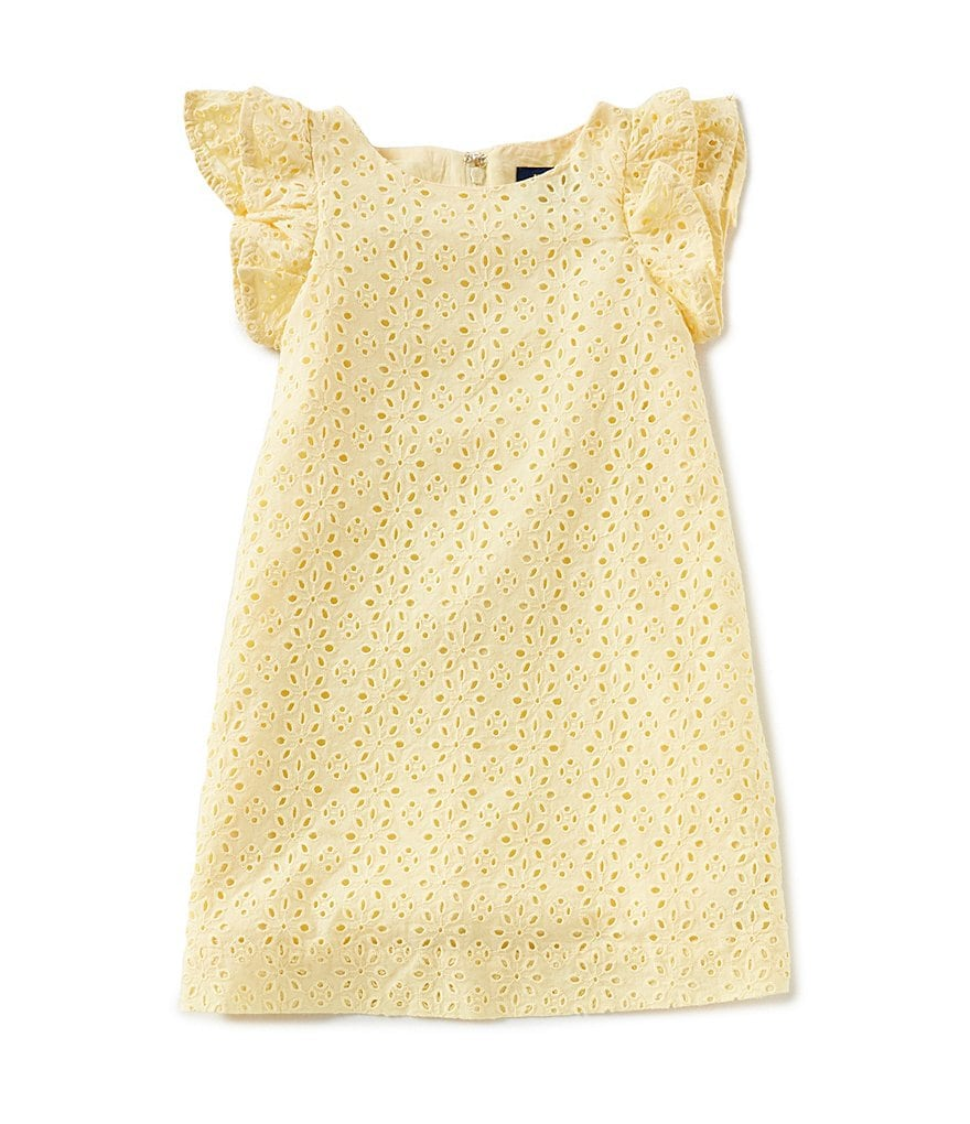 Ralph Lauren Childrenswear Little Girls 2T-6X Eyelet A-Line Dress