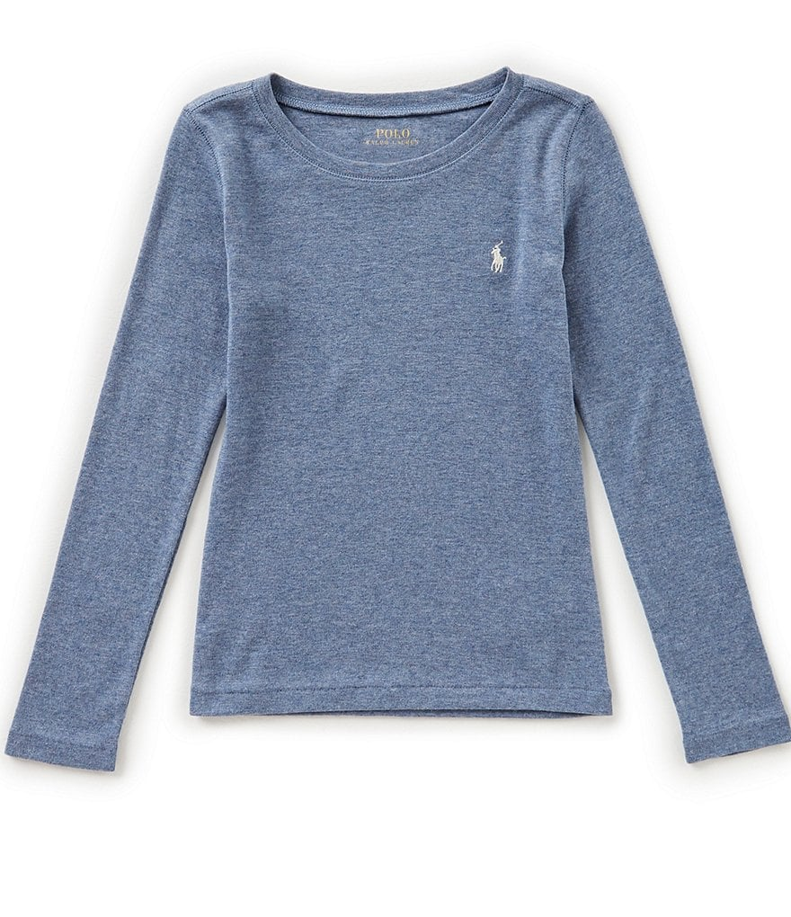 Ralph Lauren Childrenswear Little Girls 2T-6X Long-Sleeve Crew Neck Tee