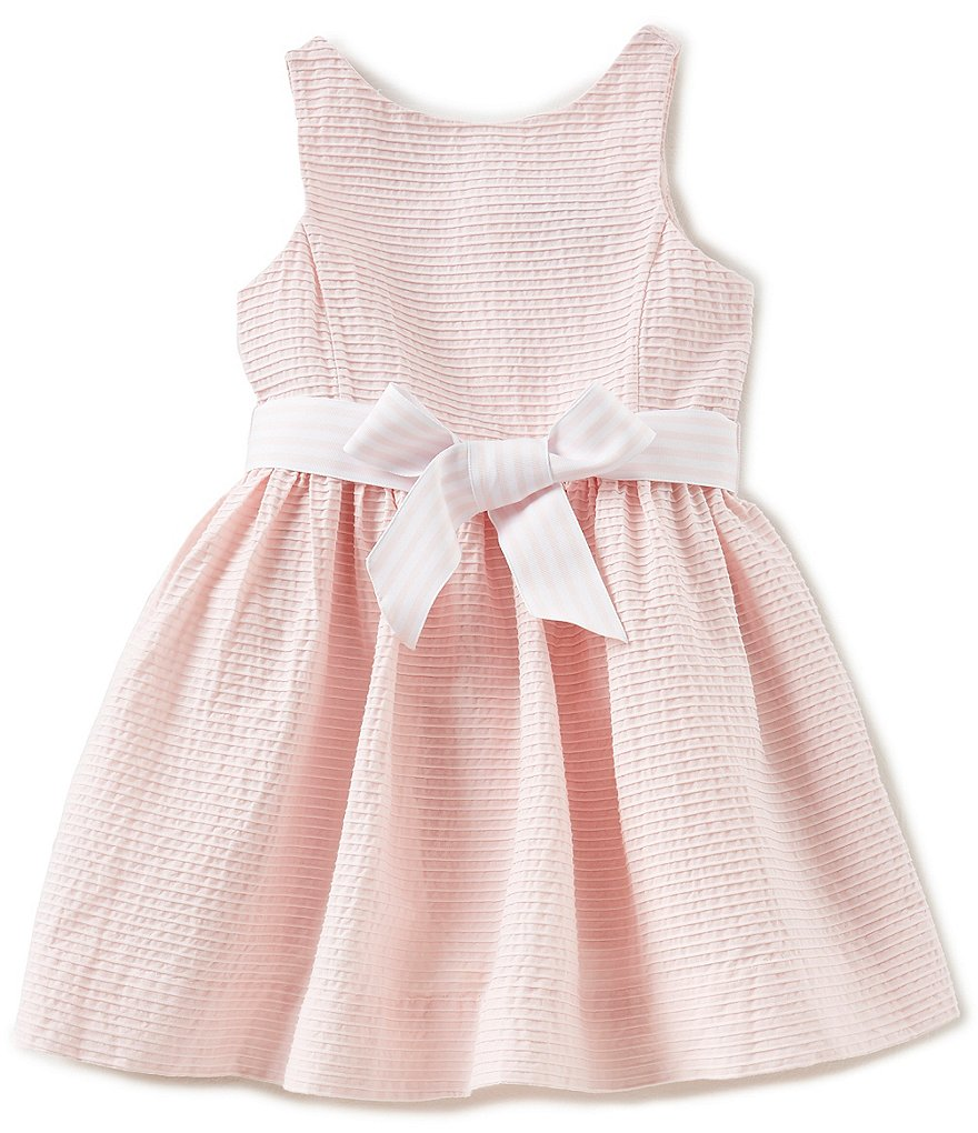 Ralph Lauren Childrenswear Little Girls 2T-6X Pintucked Fit-And-Flare Dress