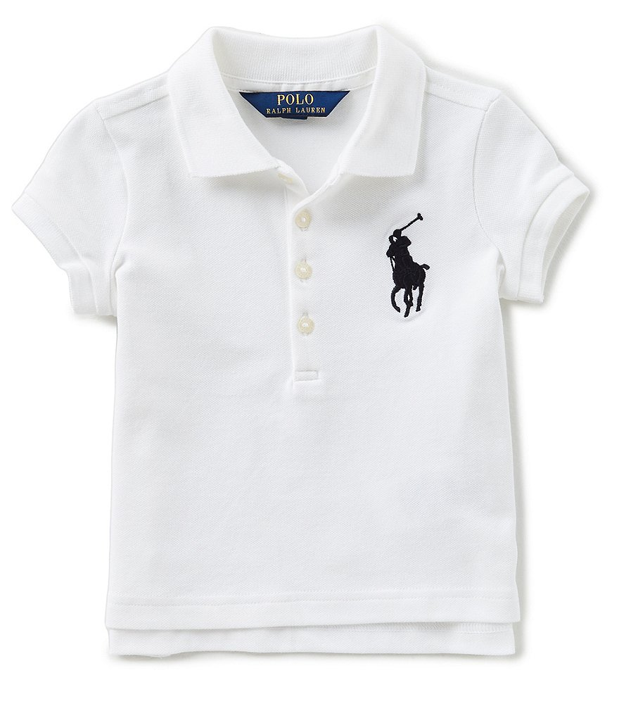 Ralph Lauren Childrenswear Little Girls 2T-6X Short-Sleeve Large Pony Mesh Polo Shirt