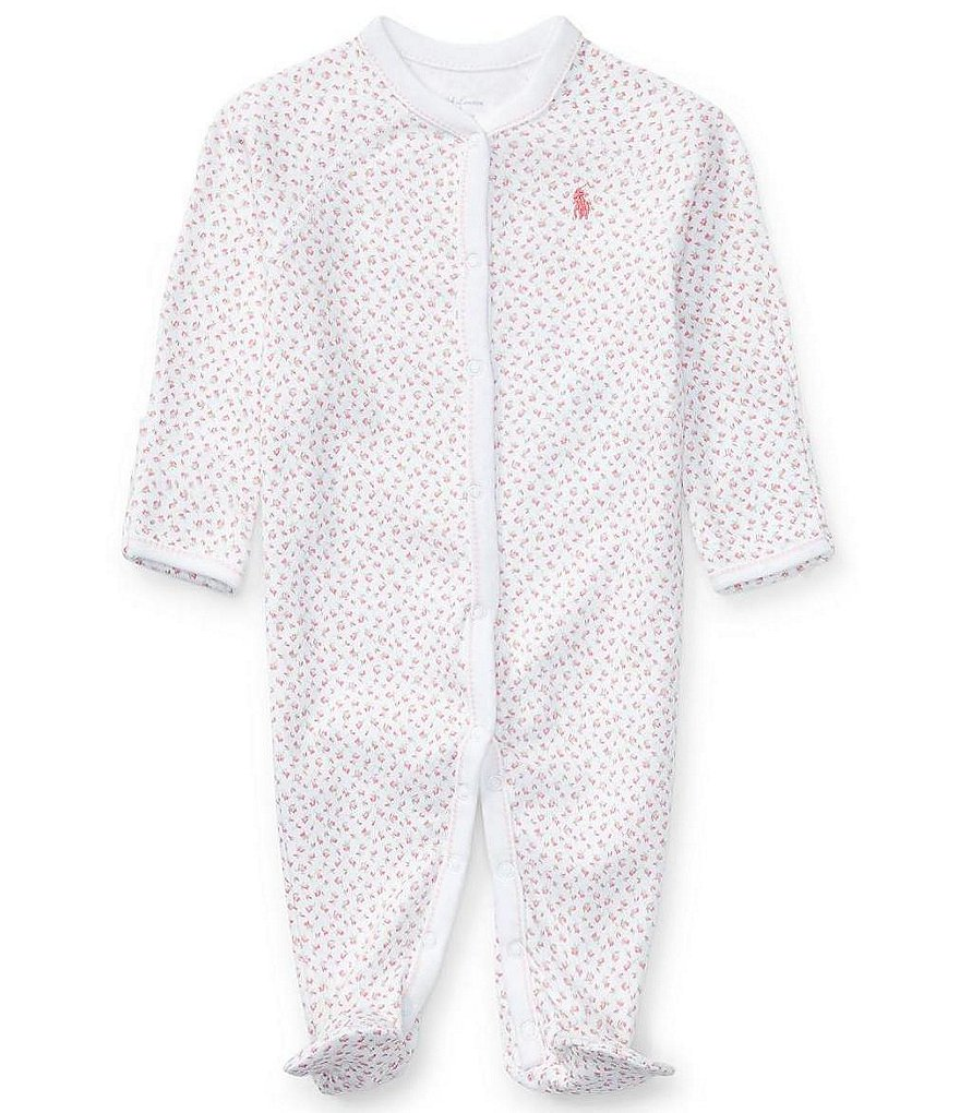 Ralph Lauren Childrenswear Baby Girls Newborn-9 Months Dainty Floral Printed Footed Coverall