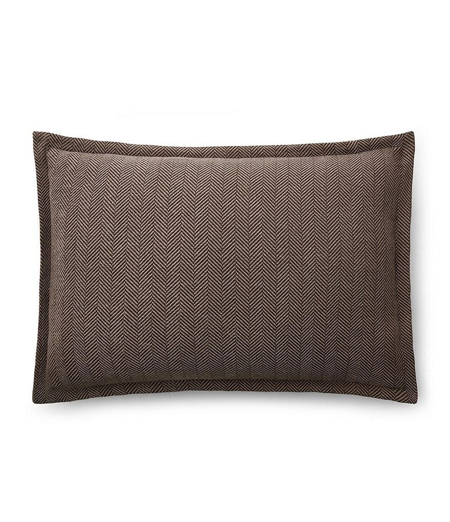 Ralph Lauren Modern Icons Collection Maynor Herringbone Standard Sham