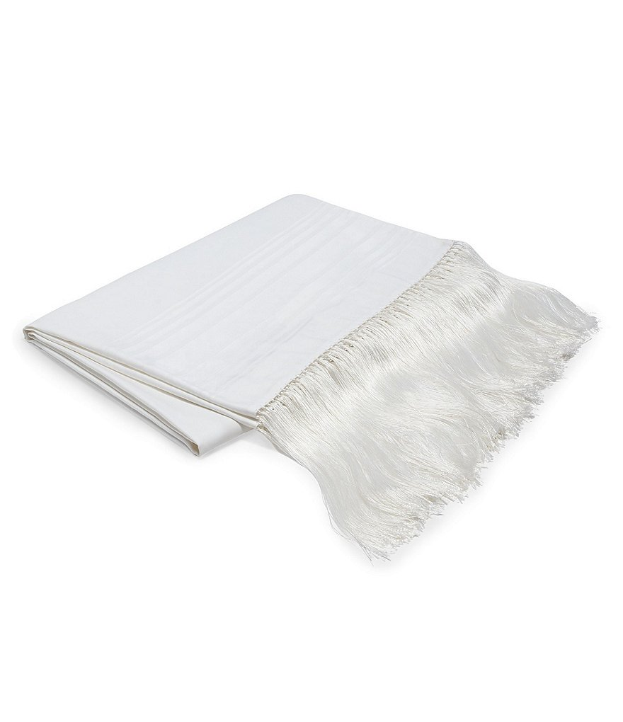 Ralph Lauren Tuxedo Park Collection Robyn Fringed Satin-Striped Throw