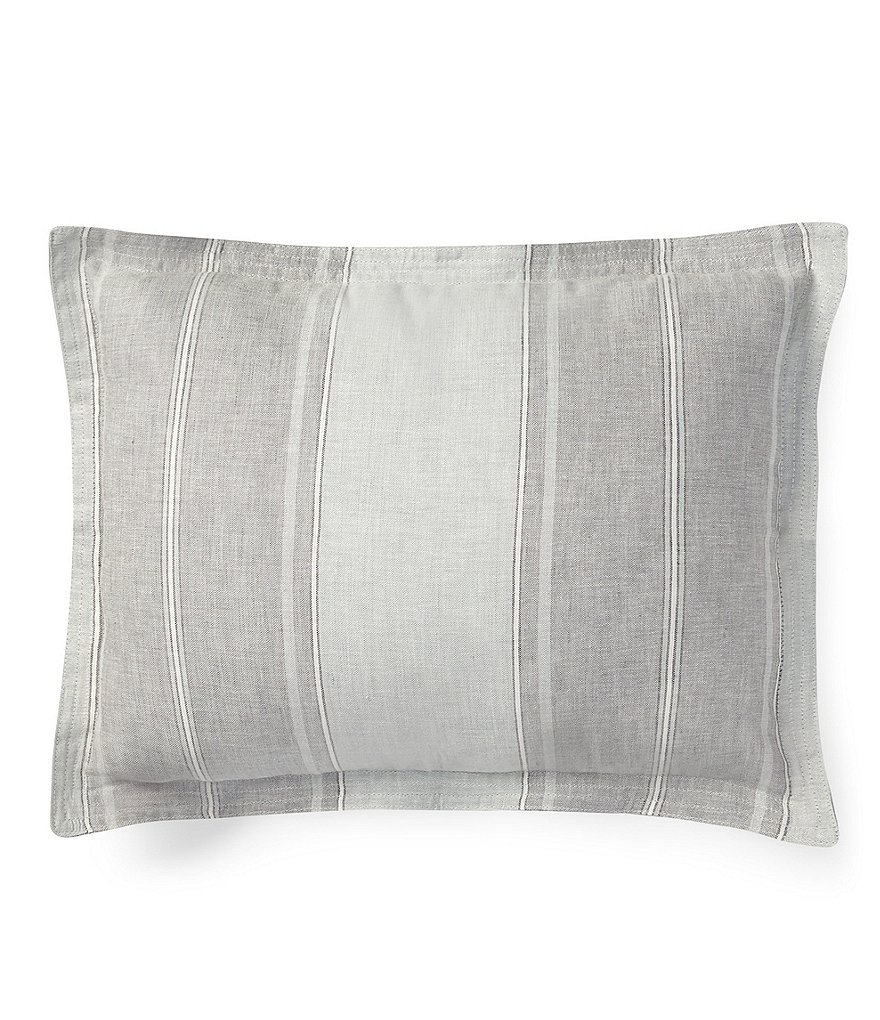 Ralph Lauren Weekend Linens Collection Oakview Striped Breakfast Pillow