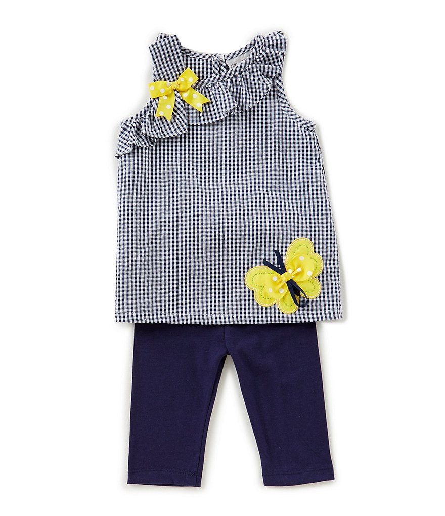 Rare Editions Baby Girls 12-24 Months Checked Tunic & Solid Leggings Set