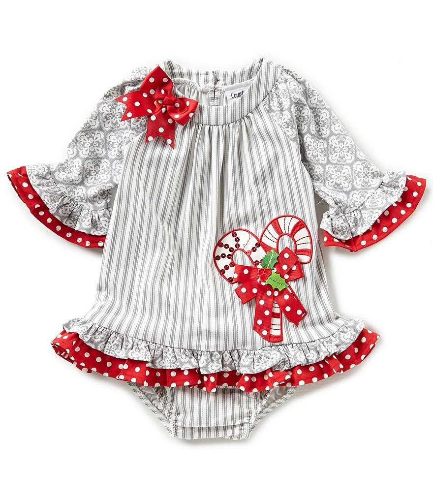 Rare Editions Baby Girls 12 24 Months Christmas Candy Cane