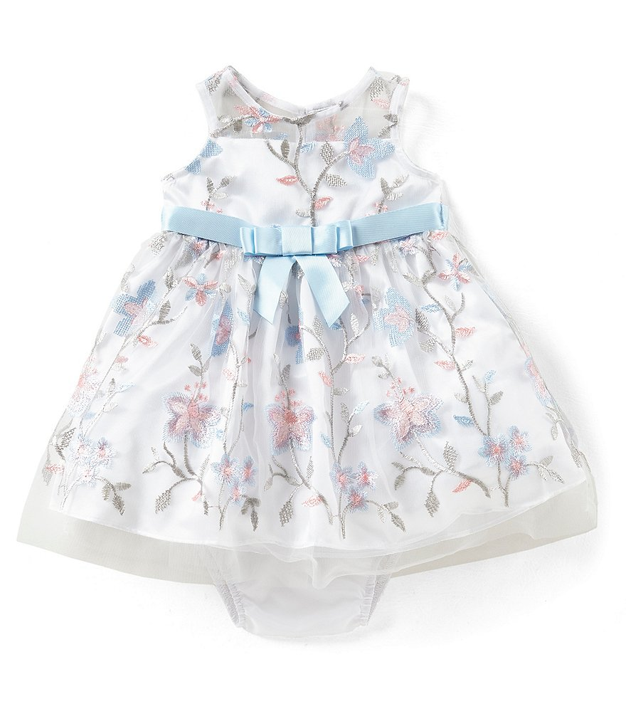 Rare Editions Baby Girls 12-24 Months Floral-Embroidered Fit-And-Flare Dress