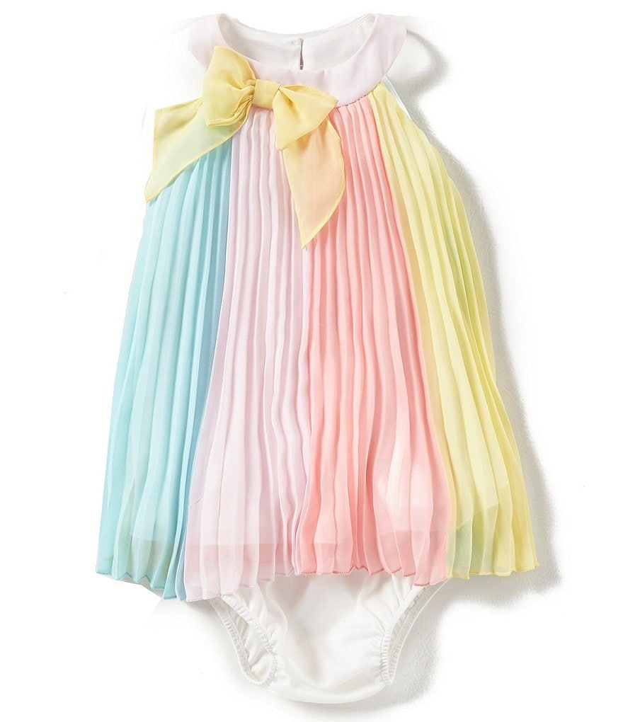 Rare Editions Baby Girls 3-24 Months Color Block Paneled Chiffon Dress