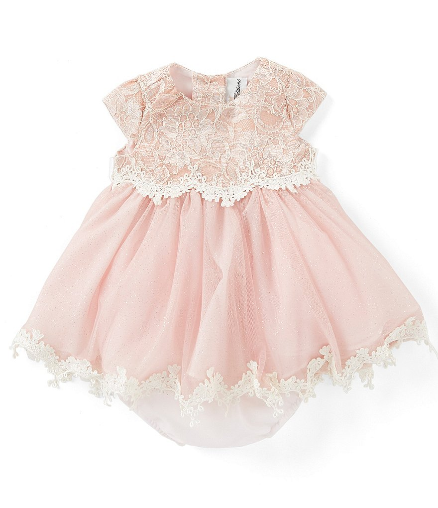 6c2b27bafbba Rare Editions Baby Girls 3-24 Months Lace/Mesh Fit-And-Flare Dress    Dillard's