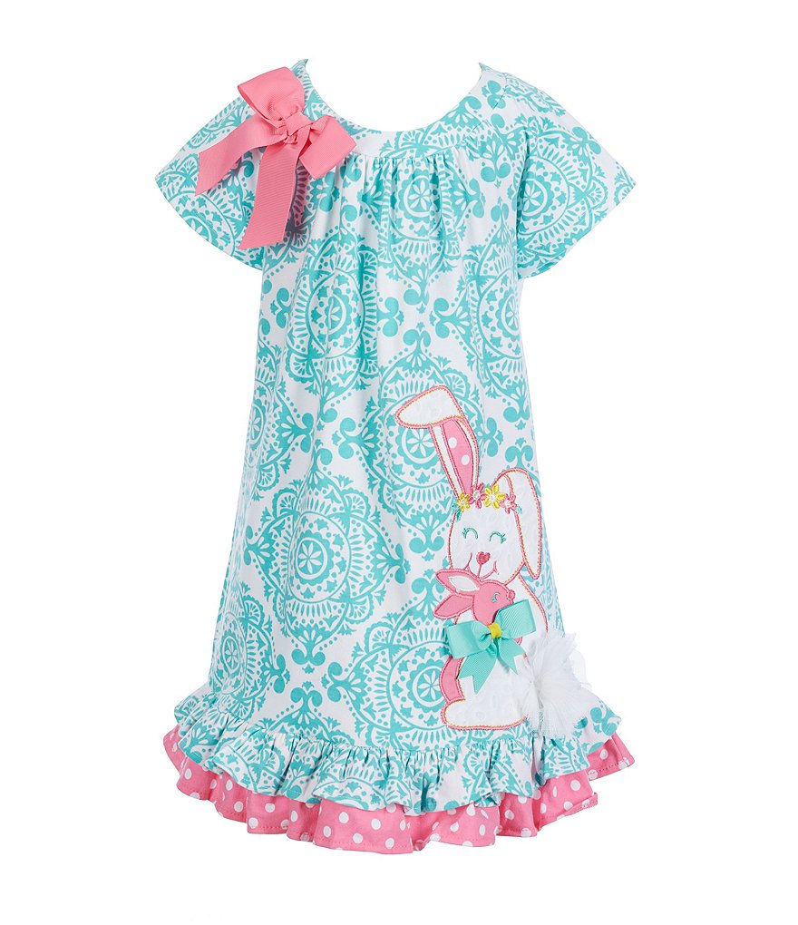 Rare Editions Little Girls 2T-6X Easter Bunny Patterned Dress